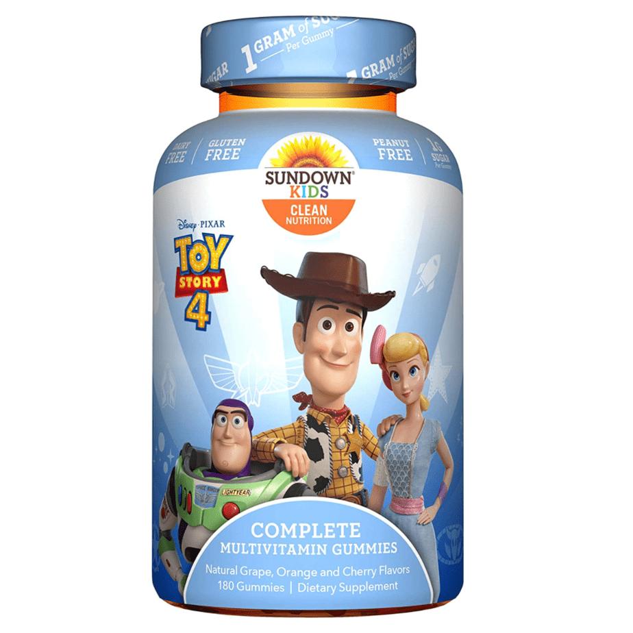 Sundown Kids Toy Story 4 Complete Multivitamin 180-Count Now .96 + More Disney Multivitamin Deals