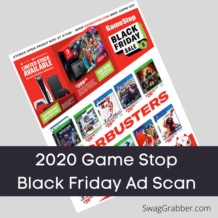 2020 Game Stop Black Friday Ad Scan