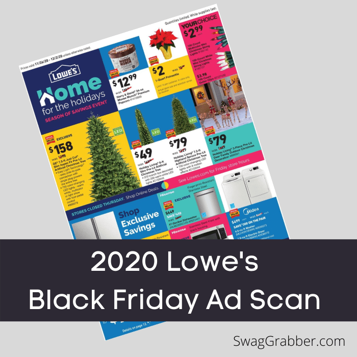 2020 Lowe's Black Friday Ad Scan