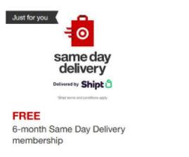 Possible FREE 6-Month Shipt Membership Through Target Circle