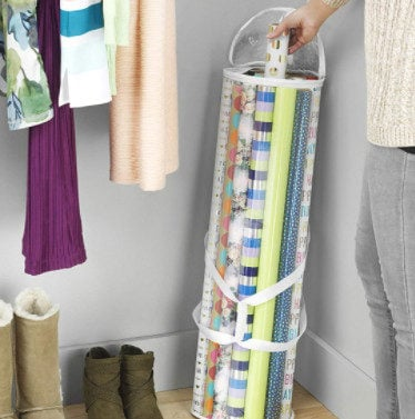 Whitmor Clear Zippered Storage for 25 Rolls Gift Wrap Organizer Now .99 (Was .99)