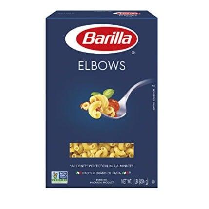 BARILLA Blue Box Elbows Pasta $0.82 Per Box Shipped