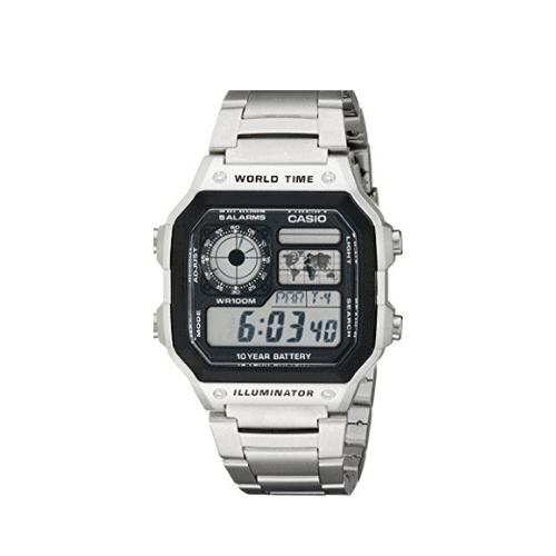 Casio Men's Stainless Steel Digital Watch Now .04 (Was .95)
