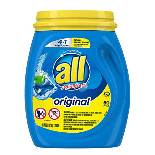 All Mighty Pacs Laundry Detergent Tub, 60 Count Now .97 (Was .99)