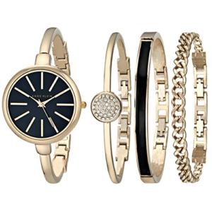 Anne Klein Women's Gold-Tone Watch and Bracelet Set Now .50 (Was 0.00)