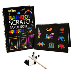 Fricon Rainbow Scratch Art for Kids Paper Pad Now .19 (Was .99)