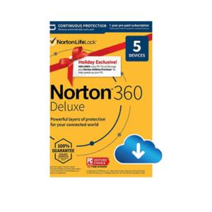 Norton 360 Deluxe 2021 Now .99 (Was .99)