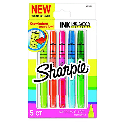 Sharpie Ink Indicator Stick Highlighters 5 Count Now .75 (Was .24)