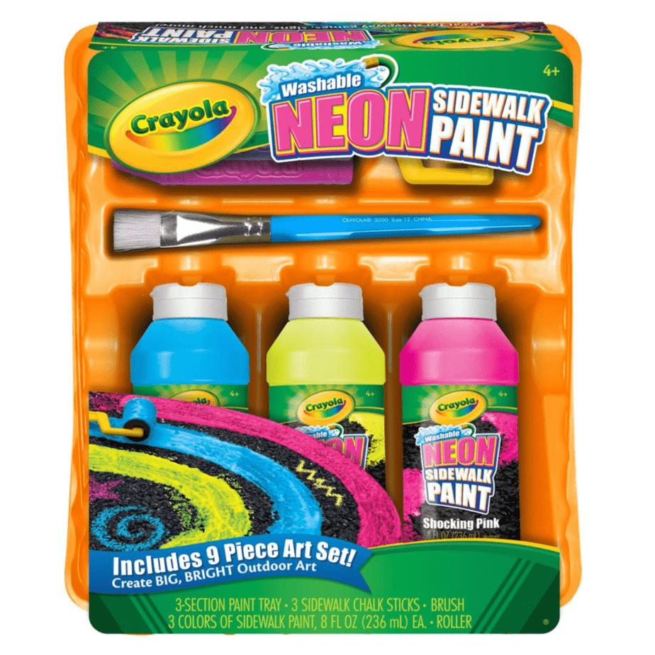 Crayola Washable Neon Sidewalk Paint Set Now .39
