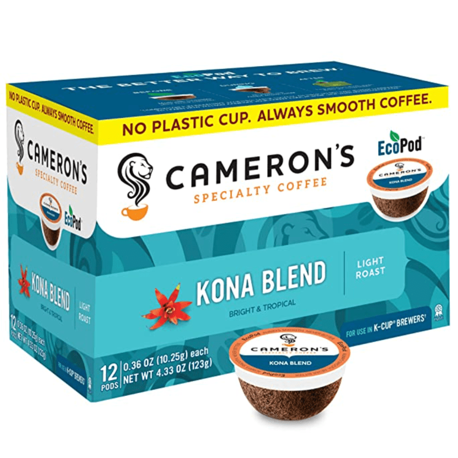 Cameron's Coffee Single Serve Pods, Kona Blend, 12 Count (Pack of 6) Now .95