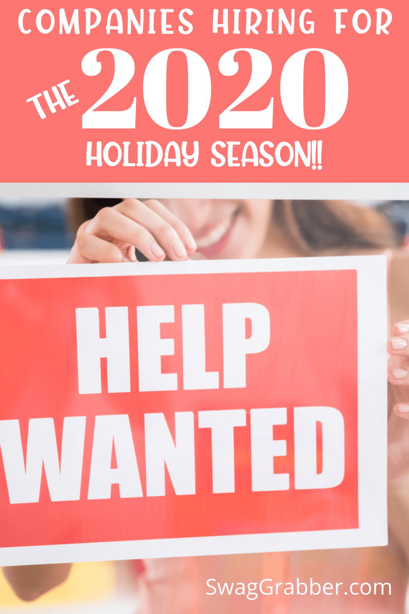 Companies Hiring for 2020 Holiday Season