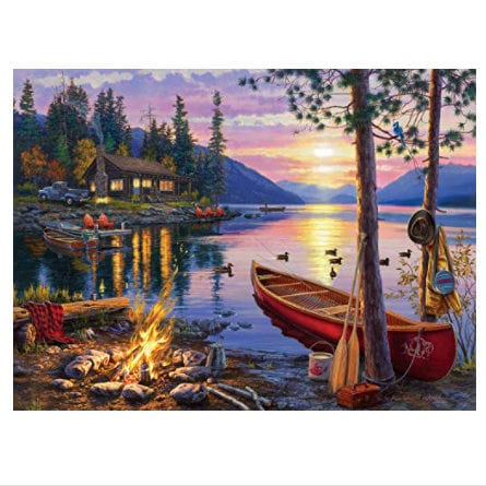 Buffalo Games - Canoe Lake - 1000 Piece Jigsaw Puzzle Now .97 (Was .99)
