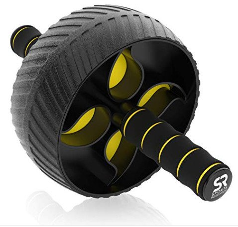 Sports Research Ab Wheel Roller with Knee Pad Now $14.97 (Was $29.95)