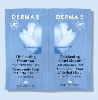 FREE Derma-E Thickening Shampoo & Conditioner Sample