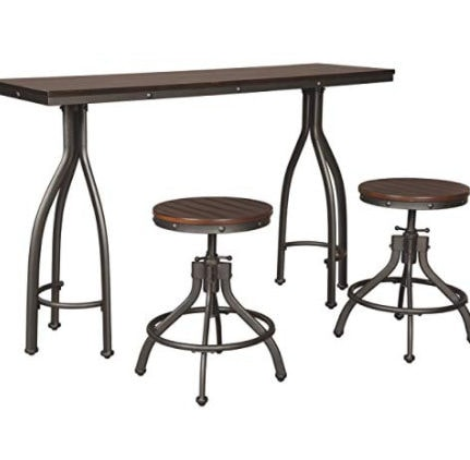 Signature Design by Ashley Odium Dining Table, 2 Stools, Now 5.99 (Was 9)