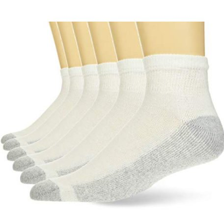 Hanes Men's Cushion Ankle Socks, 6-Pack, White Now .48 (Was .75)
