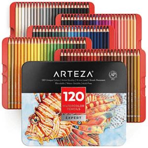Arteza Professional Watercolor Pencils, Set of 120 Now .64 (Was .99)