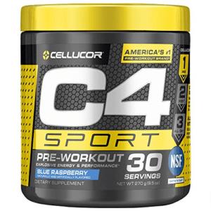 C4 Sport Pre Workout Powder Blue Raspberry Now .57 (Was .99)
