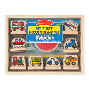 Melissa & Doug First Wooden Stamp Set – Vehicles Now .79 (Was .99)