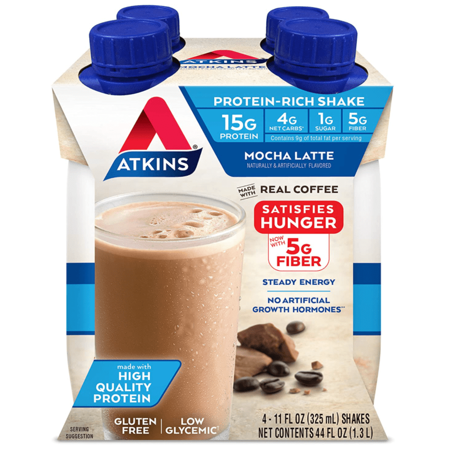 Atkins Mocha Latte Protein-Rich Shake 4-Count Now .73