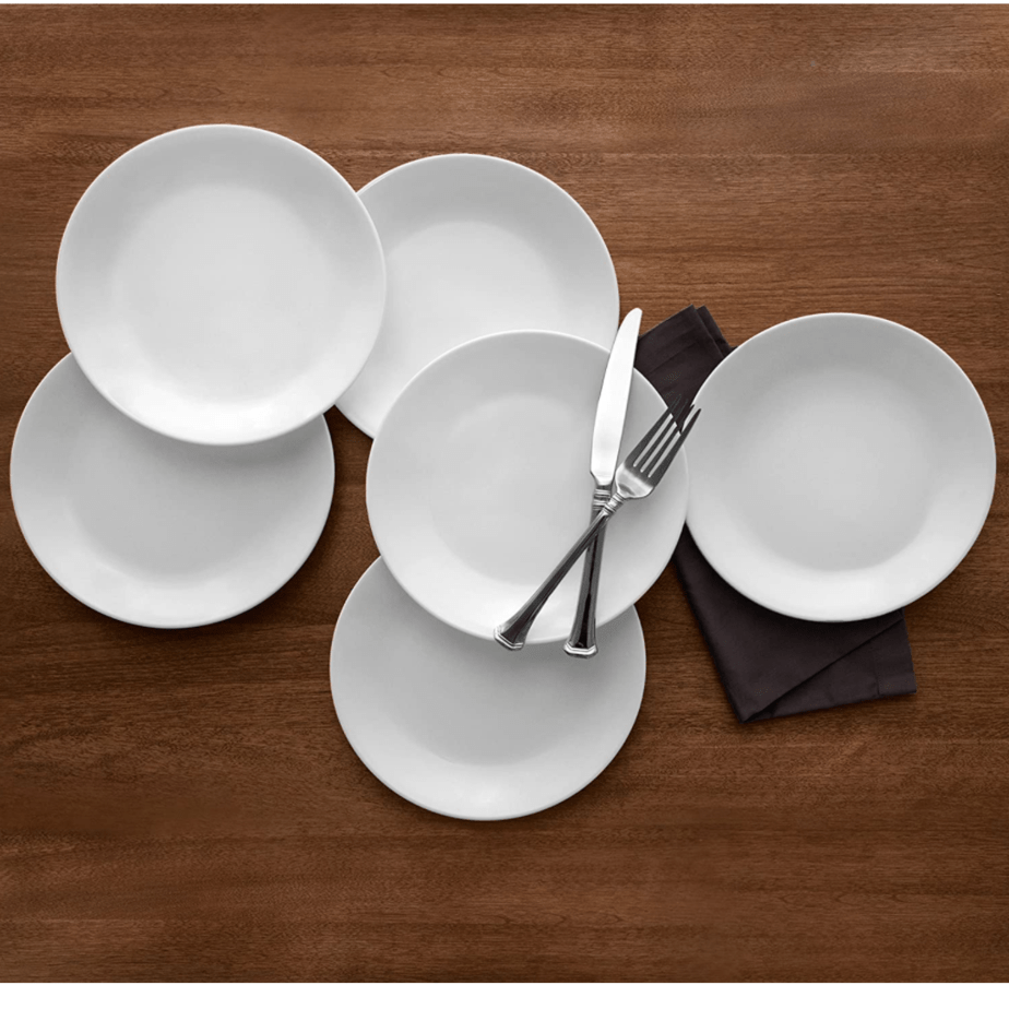 Corelle Winter Frost White 6-Piece Plate Set Now .28