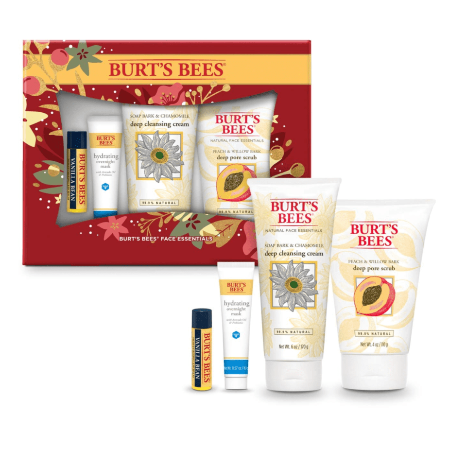 Burts Bees Face Care Essentials Gift Set Now .49