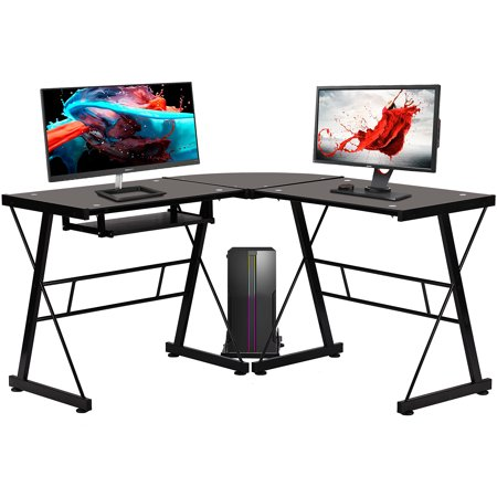"""Casaottima L Shaped Gaming Desk, 51"""" Home Office Desk Now $79.99 (Was $149.99)"""