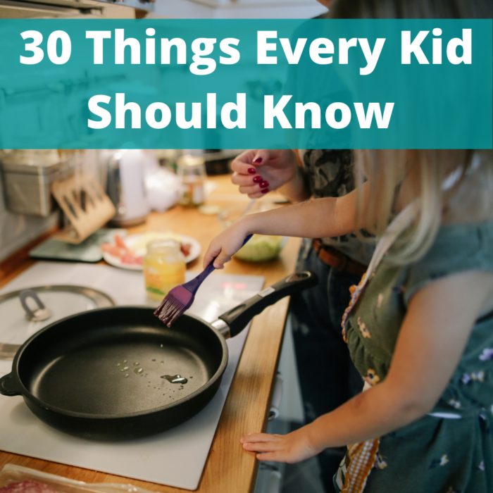 Free Printable 30 Things Every Kid Should Know Checklist