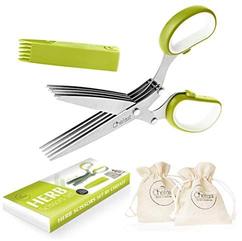 Chefast Herb Scissors Set - Multipurpose Cutting Shears Now $10.99 (Was $25.02)