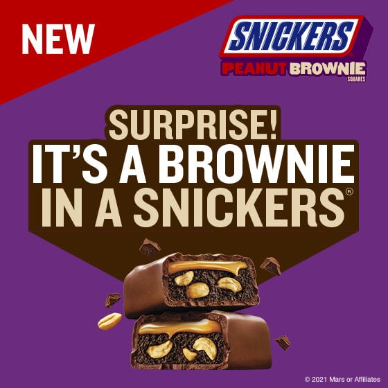 FREE Sample of Snickers Peanut Brownie - Alexa or Google Assistant