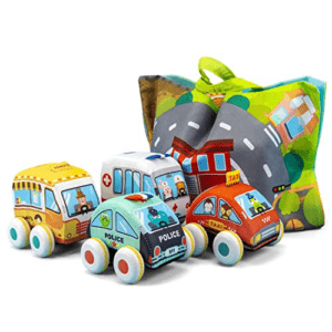 UNIH Pull-Back Vehicle Baby Toys of Soft Plush Car Set Now .99 (Was .99)