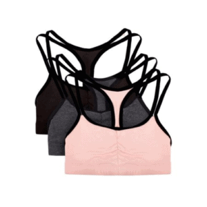 Fruit of The Loom Women's Strappy Sports Bra, 3-Pack Now .06