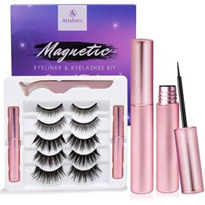 Arishine Magnetic Eyeliner and Lashes Kit Now .99 (Was .98)