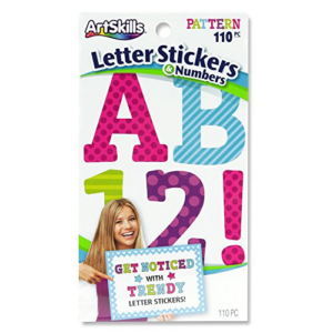 ArtSkills Letter Stickers and Numbers, A-Z -0-9 110 Count Now .97 (Was .99)