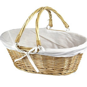 Oval Willow Basket with Double Drop Down Handles Now .20 (Was .00)