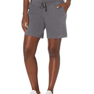 Hanes Women's Jersey Short, Charcoal Heather, Large Now .28 (Was .00)
