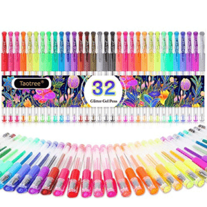 Glitter Gel Pens, 32-Color Neon Glitter Pens Fine Tip Art Markers Set Now .10 (Was .99)