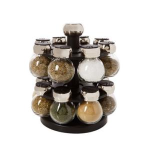 Olde Thompson 16-Jar Labeled Orbit Spice Rack Jars & Rack Now .98 (Was .99)