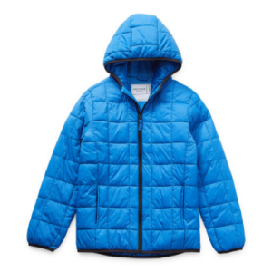 Arizona Little & Big Boys Hooded Packable Midweight Puffer Jacket Now .99 Was