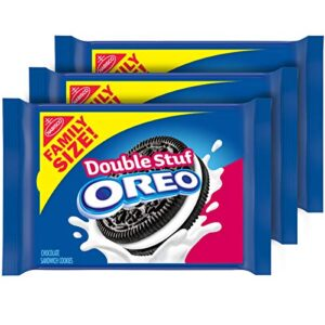 OREO Double Stuf Chocolate Sandwich Cookies, Family Size, 3 Packs Now .08