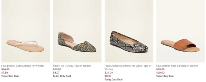 50% off All Old Navy Shoes = Flip Flips Only  Online NOW!!!