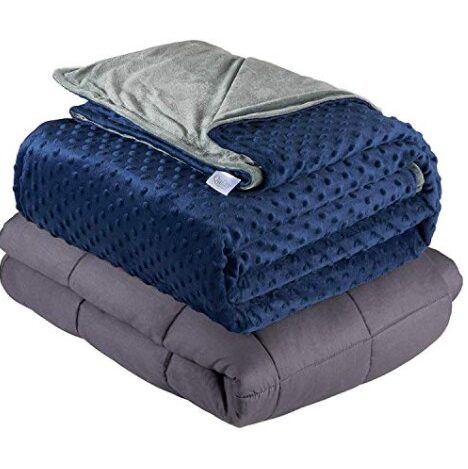Quility Weighted Blanket for Adults - Queen Size Now $55.99 (Was $89.99)