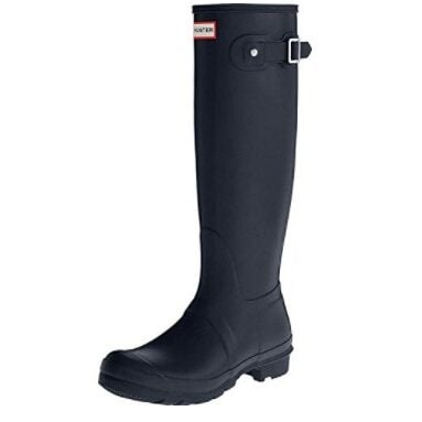 Hunter Women's Original Tall Navy Rain Boots Now $54.99 (Was $150)