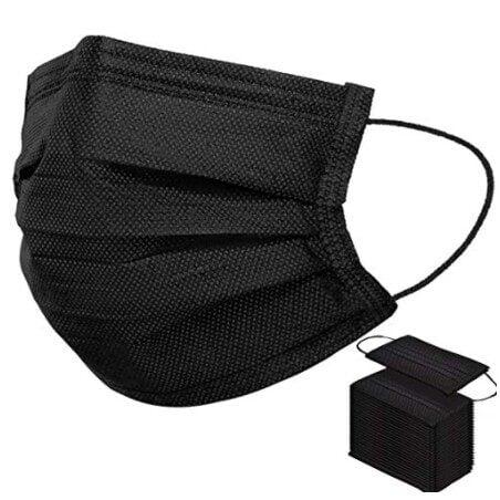 50 PCS Black Disposable Face Masks Now $5.93