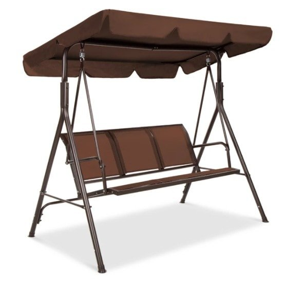 3-Seater Outdoor Canopy Swing Glider Bench 9 Shipped