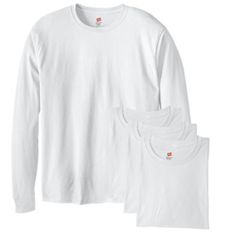 Hanes Men's 4 Pack Long Sleeve Comfortsoft T-Shirt Now .99 (Was )
