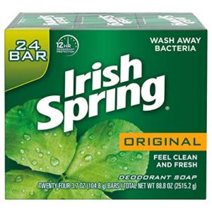 24-cnt Irish Spring Mens Deodorant Bar Soap Original Scent 3.7oz Now .66 (Was .99)