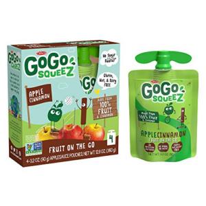GoGo squeeZ Applesauce, Apple Cinnamon 48 Pouches Now .00 (Was .32)