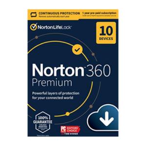 Norton 360 Premium 2021 [Download] Now .99 (Was .99)