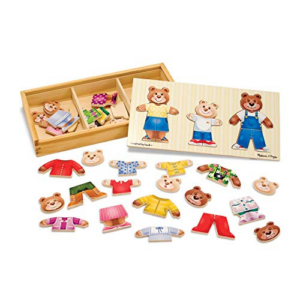 Melissa & Doug Bear Family Dress-Up Puzzle Now .59 (Was .99)